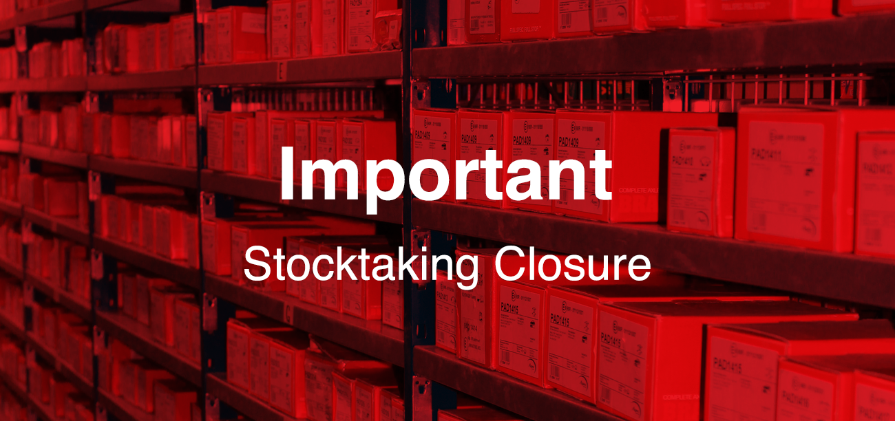 Stocktake closures while we upgrade our system